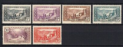 Lote sellos nuevos MN Andorra año 1929 MN Edifil 24-29, lot French stamps.