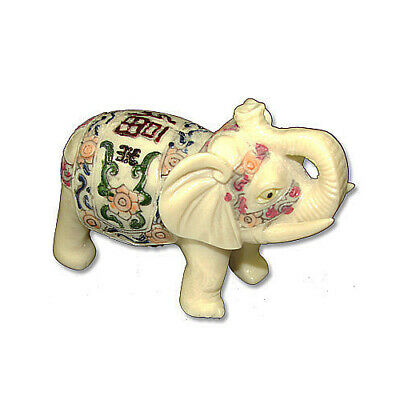 4'' Feng Shui Elegant Elephant Trunk Statue Lucky Wealth Figurine Decor