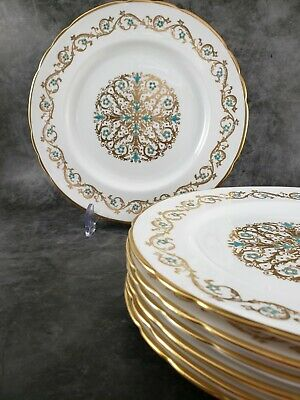 "Vintage and Rare Set of 5 Dinner/Luncheon Plates ""Louise"" by Tuscan, 9 1/2"""