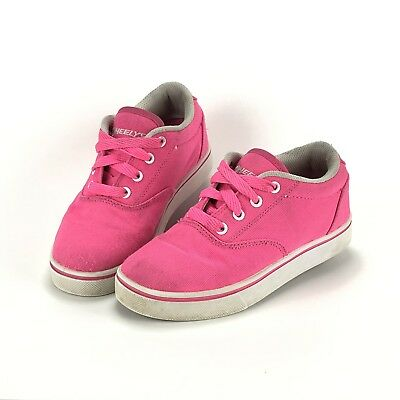 Girls Hot Pink Heelys Roller Skate Shoes Sneakers Youth Size 2