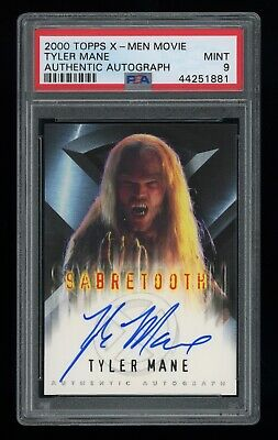 2000 Topps X-Men Movie Tyle Mane SABERTOOTH Signed Autograph PSA 9 MT XMEN AUTO