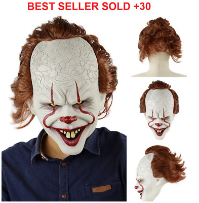 Halloween mask IT JOKER PENNYWISE IT CLOWN  COSPLAY 2019 FAST SHIPPING IN LATEX