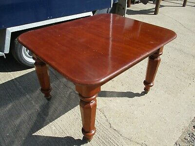 A Small 19th Century Victorian Mahogany Extending Dining Table Solid Rectangular