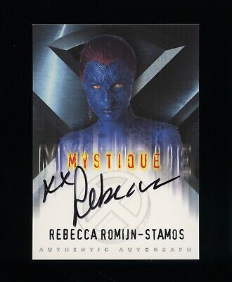 2000 Topps X-Men Movie Rebecca Romijn-Stamos MYSTIQUE Signed Autograph XMEN AUTO