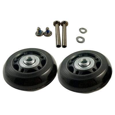 2 Set Luggage Suitcase Replacement Wheels Axles and Wrench Repair set OD 60mm