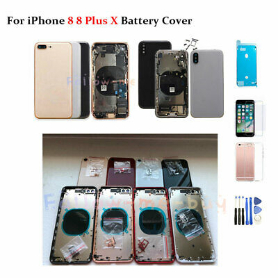 Replacement Back Housing Battery Door Cover Frame Assembly For iPhone 8 8 Plus X
