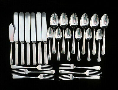 Antique Wm Rogers & Son 1917 Lincoln Pattern 1Silverplate 25-Piece Service for 6