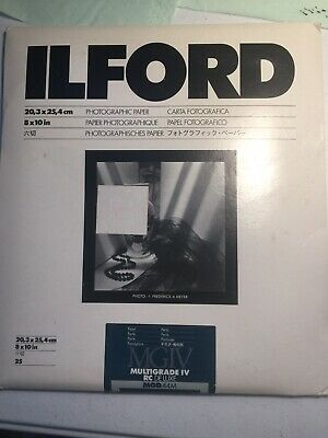Ilford Multigrade IV RC Deluxe Pearl 8 x 10 Photographic Paper 25 sheets NOS
