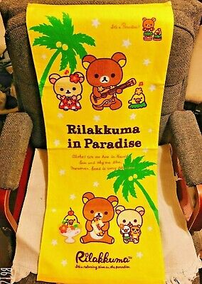 Japan San-X Rilakkuma in Paradise Beach Bath Towel Relax Bear Cute 100% Cotton