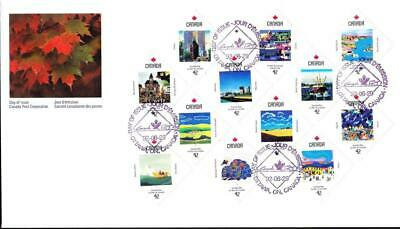 Canada jumbo FDC 1992 sc#1431a Canada Day Confederation 125 Years, pane of 12