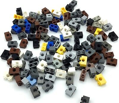 New LEGO Lot of 8 Dark Bluish Gray 2x2 Axle Plates with Single Pin Hole