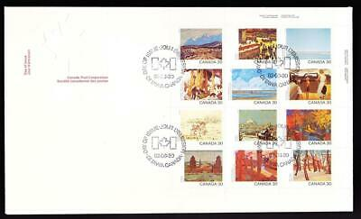 Canada 1982 Jumbo FDC sc# 966a Canadian Artists, UR pane of 12