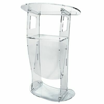 Highland Acrylic Lectern, Podium or Pulpit with built-in shelf