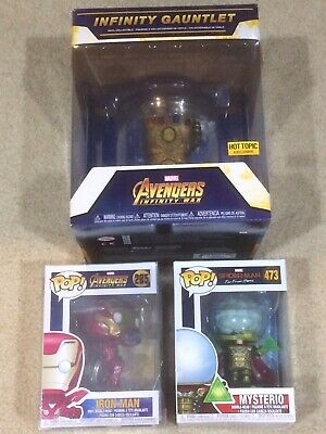 Funko Pop Lot! Infinity Gauntlet! Mysterio! Iron Man! Brand New! Marvel Avengers