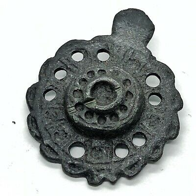 Authentic Medieval Pendant Artifact Ancient Jewelry Byzantine Old Rare European