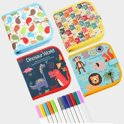 Portable Soft Graffiti Erasable Drawing Animal Picture Book DIY Drawing Board