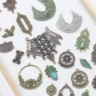 Retro Charms Earring Chandelier Findings Antique Metal Link Connectors lot