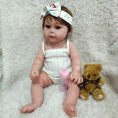 "17""Full Body Vinyl Silicone Reborn Baby Doll Anatomically Girl Gift Toy Handmade"