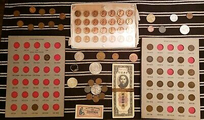 Junk Drawer Lot: Old U.S. Coins, Indian Head & Wheat Cents, Scrap Silver VINTAGE