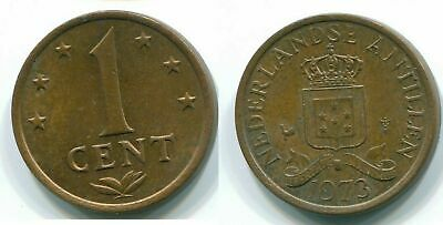 1973 NETHERLANDS ANTILLES 1 CENT Bronze Colonial Coin #S10646E