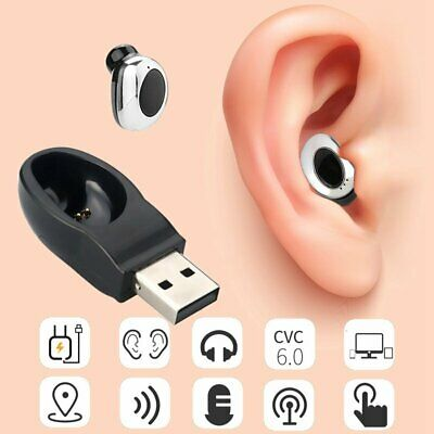 Mini Earbuds Wireless Bluetooth Headphone Invisible Headset Earphone+USB Charger