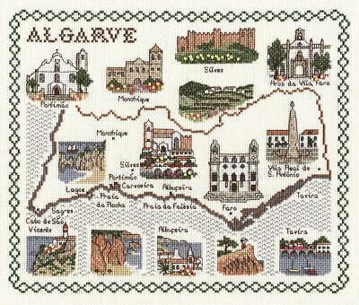 Map & Sights of Algarve (Portugal) - Classic 14ct Counted Cross Stitch Kit