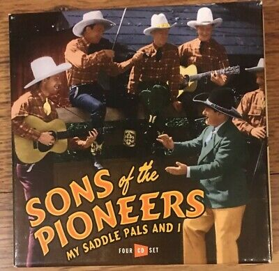 Sons Of The Pioneers My Saddle Pals And I - 4 CD Book - Box Set Import Rare 3S