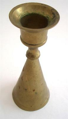 "Vintage Brass Candlestick Candle Holder 4.25"" Tall"