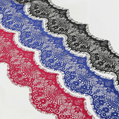3 Yards Floral Lace Trim Ribbon for Sewing Embroidered DIY Craft Clothing Decor