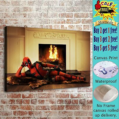 Deadpool Marvel HD Canvas prints Painting Home decor Picture Room Wall art Photo
