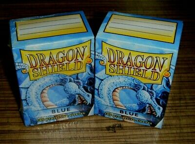 2x Boxes Dragon Shield Blue Protective Card Sleeves
