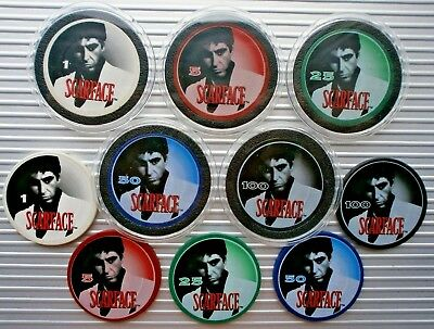 AL PACINO SCARFACE 2. SERIAL NUMBERED POKER CHIP COOL ITEM LIMITED EDITION