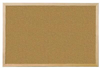 600 x 900 mm Wooden Frame Memo Cork Board Notice Pictures Boards CorkBoards NEW