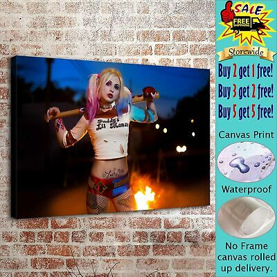 HARLEY QUINN Picture HD Canvas prints Painting Home decor Room Wall art Photo42