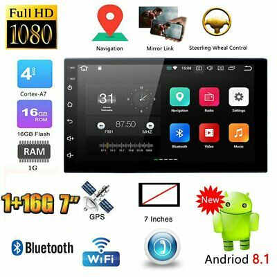 "Android 8.1 Double 2 Din 7""Car FM MP5 Player Touch Screen Stereo Radio Bluetooth"