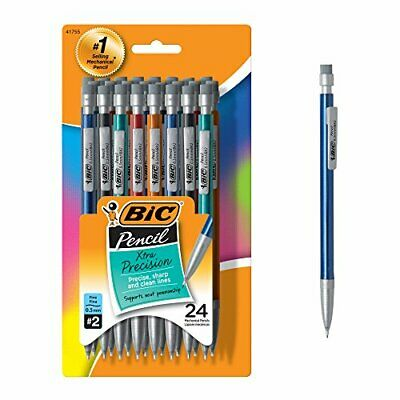 BIC Xtra-Precision Mechanical Pencil, Metallic Barrel, Fine Point (0.5mm), 24-Co