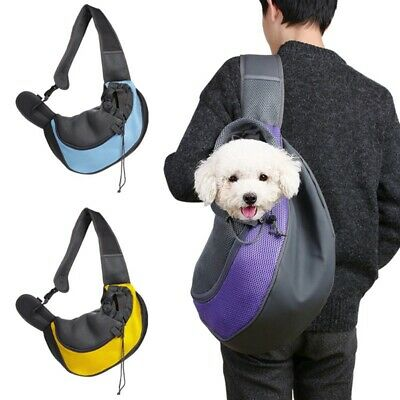 Pet Carrier Shoulder Bag Dog Puppy Cat Mesh Comfort Travel Tote Sling Backpack