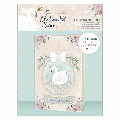 """The Enchanted Swan Papermania Christmas Collection - 5x7"""" Decoupage Shaker Kit"""