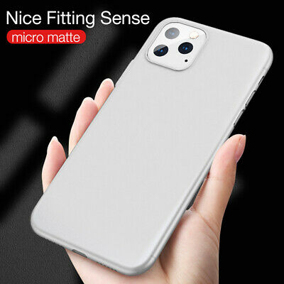 For iPhone 11 Pro Max XR XS Silicone Case Soft Slim Rubber Gel Thin Back Cover