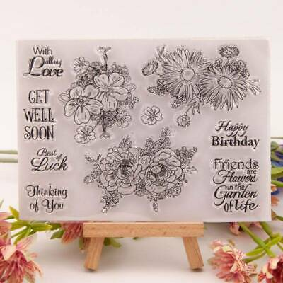 Flowers Silicone Clear Seal Stamp DIY Scrapbooking Photo Album Decor Card Decor