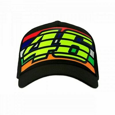 Valentino Rossi VR46 Moto GP Stripes Black Cap Official 2019 Free UK Ship