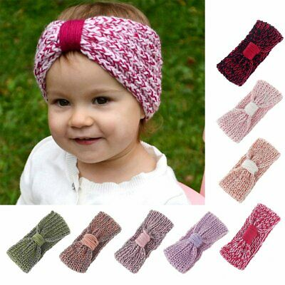 Toddler Girls Baby Winter Knit Headband Hairband Stretch Turban Knot Head Wrap