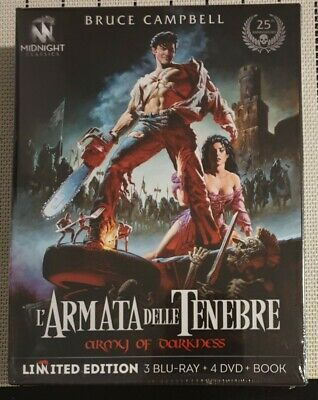 L' Armata delle Tenebre Box Set Limited Edition 3 Blu-Ray 4 Dvd Army of Darkness