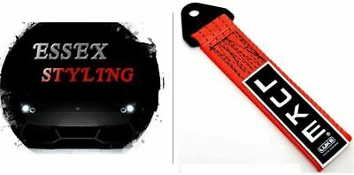 LUKE Tow Strap Rope Towing Eye Pull Hook Track Car - Red New In