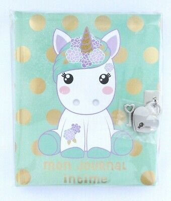 """Journal intime Licorne Candy Cloud Pistachio """"Mon journal intime"""""""