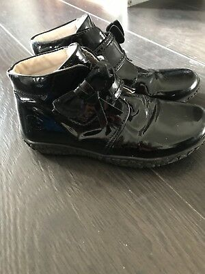 Russell & Bromley Girls Patent Boots Size 31
