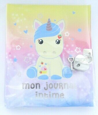 """Journal intime Licorne Candy Cloud Flossy """"Mon journal intime"""""""