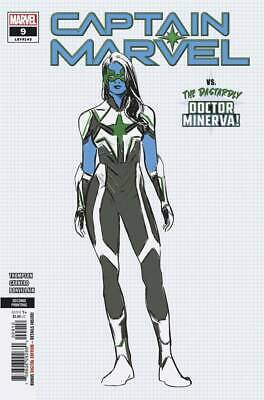 Captain Marvel #9 (Marvel 2019) 2nd Printing Carnero Variant