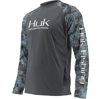 Save 35% HUK DOUBLE HEADER Youth LS Performance Fishing Shirt-Pick Color/Size