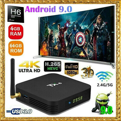 TX6 Android 9.0 Smart TV BOX Allwinner H6 4GB 64GB Quad Core Dual WIFI 2.4G 5G